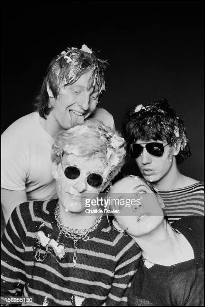 English punk group The Damned London 1978 Clockwise from top left drummer Rat Scabies bassist Algy Ward singer Dave Vanian and guitarist Captain...