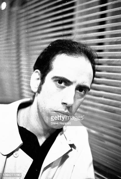 English Punk, Post-Punk, and New Wave musician Mick Jones, of the group Big Audio Dynamite, films the 'Medicine Show' music video, London, 6/8/1986.