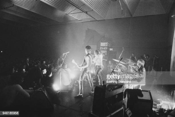 English punk rock band The Sex Pistols performing live during their 'Never Mind The Bans Tour' UK 19th December 1977