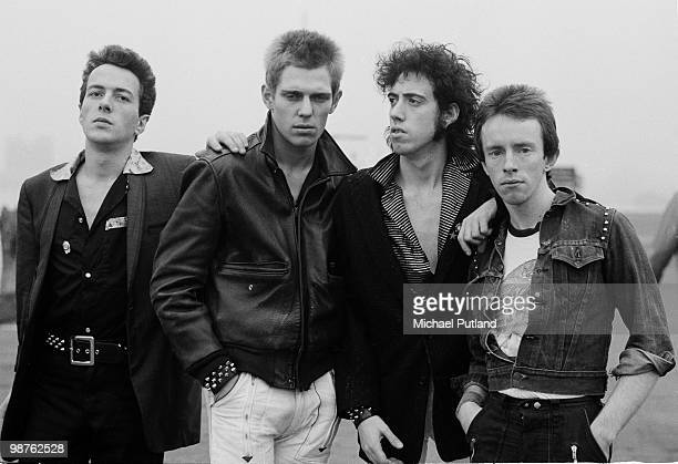 English punk rock group The Clash, New York, 1978. Left to right: singer Joe Strummer , bassist Paul Simonon, guitarist Mick Jones and drummer Nicky...