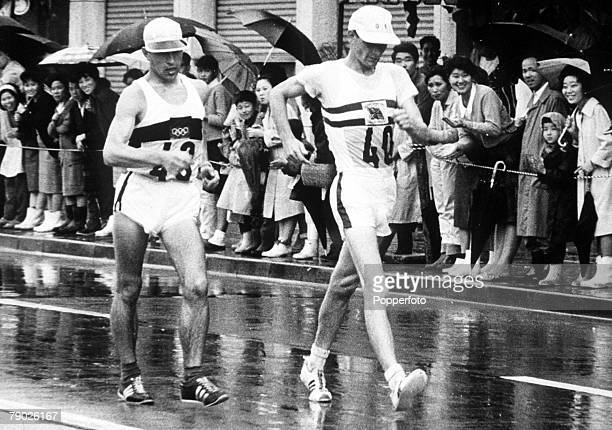 Olympic Games Tokyo Japan Men's 50Km Walk Great Britain's Paul Nihill placed second behind Italy's Pamich