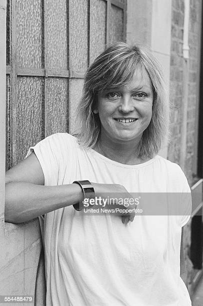 English radio and television broadcaster Annie Nightingale posed at a press event to launch the BBC television 'Rock Around the Clock' 15 hour music...