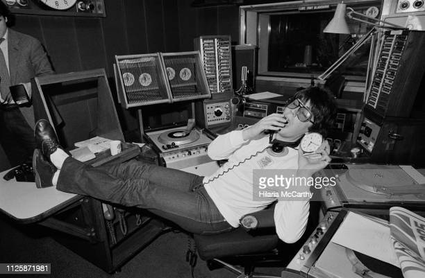 English radio DJ writer journalist and television presenter Mike Read UK 20th November 1980