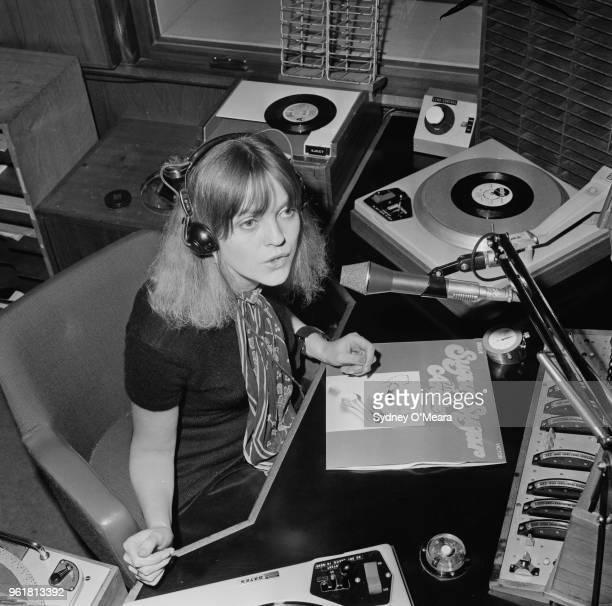 English Radio One disc jockey Annie Nightingale plays 'Sugar Sugar' by the Archies on her show 12th January 1970