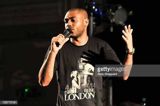 English rapper Kano performs on stage at Bush Hall on September 1 2010 in London England