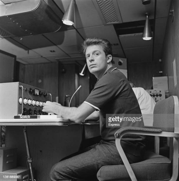 English record producer Chris Blackwell, the founder of Island Records, at his recording studio, UK, 3rd May 1966.