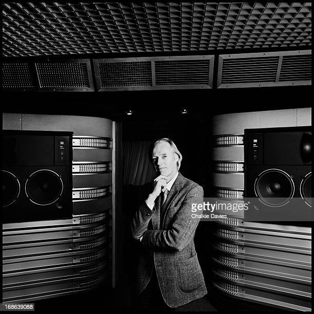 English record producer George Martin at Air Studios in London 1986