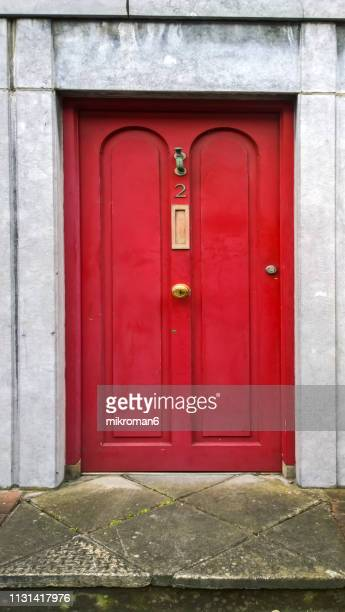 english red front, door - number 2 stock pictures, royalty-free photos & images
