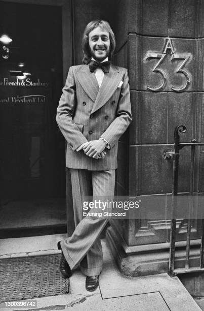 English retail entrepreneur Harold Tillman outside the premises of tailors Kilgour, French and Stanbury at 33A Dover Street in London, UK, 27th...