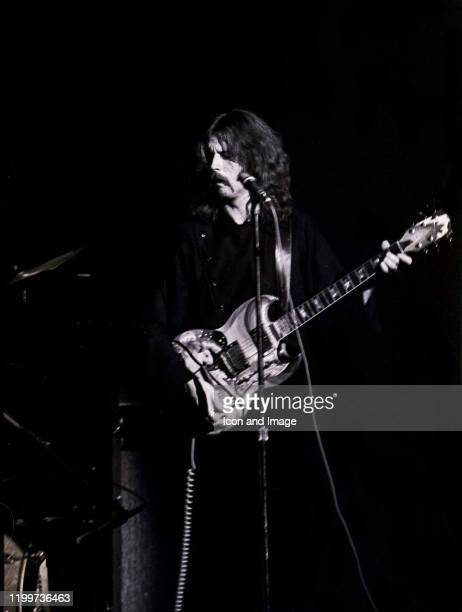English rock and blues guitarist singer and songwriter Eric Clapton performs as a member of Cream at the Sam Houston Coliseum on March 31 in Houston...