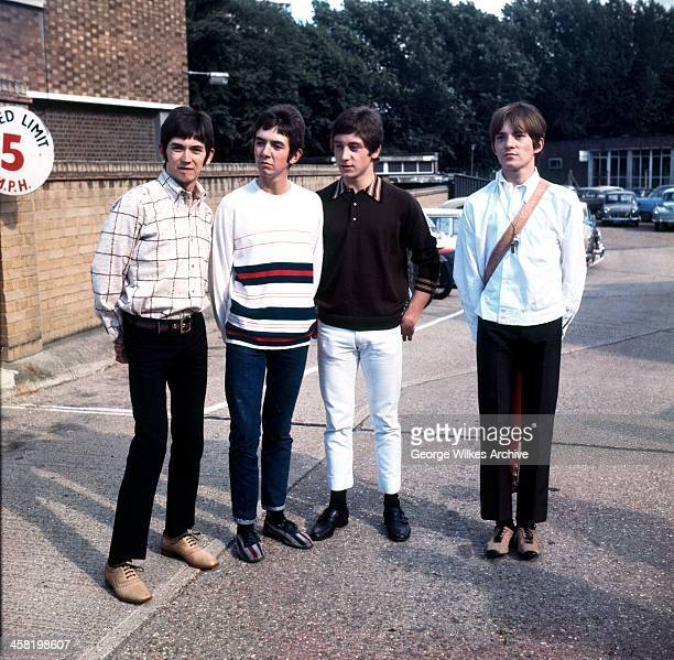 English rock and roll band the Small Faces. L-R Ian McLagan, Ronnie Lane, Kenney Jones, Steve Marriott.