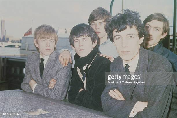 English rock and roll group The Rolling Stones posed circa 1963 Left to right Brian Jones Keith Richards Mick Jagger Bill Wyman and Charlie Watts
