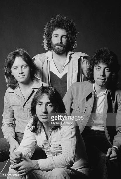 English rock band 10cc 1974 Clockwise from front Lol Creme Eric Stewart Kevin Godley and Graham Gouldman