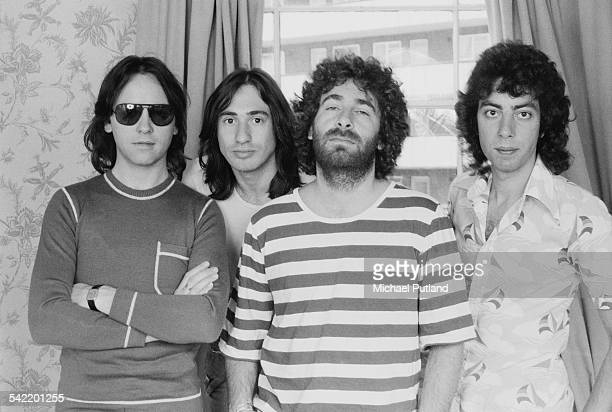 English rock band 10cc July 1975 Left to right Eric Stewart Lol Creme Kevin Godley and Graham Gouldman