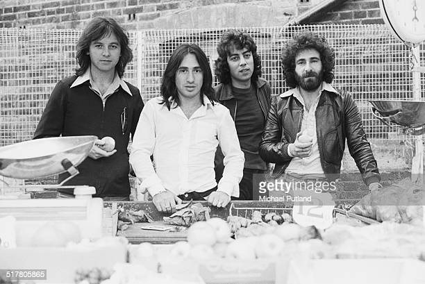 English rock band 10cc May 1974 Left to right Eric Stewart Lol Creme Graham Gouldman and Kevin Godley
