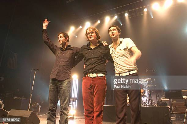 English rock band Keane performs onstage at the Riviera Theater, Chicago, Illinois, February 17, 2005. Pictured are, from left, Richard Hughes, Tom...