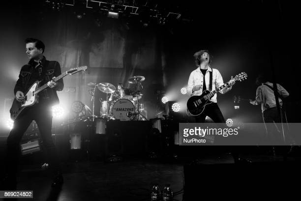 English rock band The Amazons perform live at O2 Forum, London on October 12, 2017. The Amazons are an English rock band from Reading, Berkshire,...