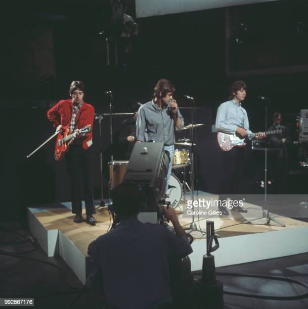 English rock band The Creation performing live on music television programme 'Ready Steady Go' UK 2nd September 1966 they are singer Kenny Pickett...