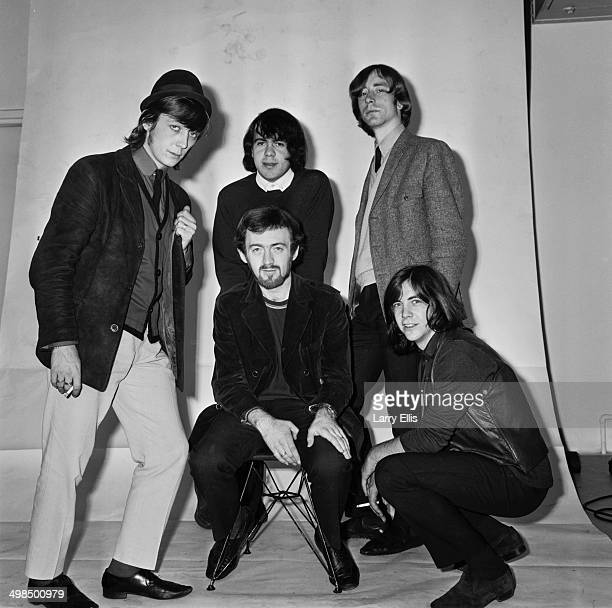 English rock band The Pretty Things UK 5th November 1964 From left to right drummer Viv Prince bassist John Stax guitarist Dick Taylor rhythm...