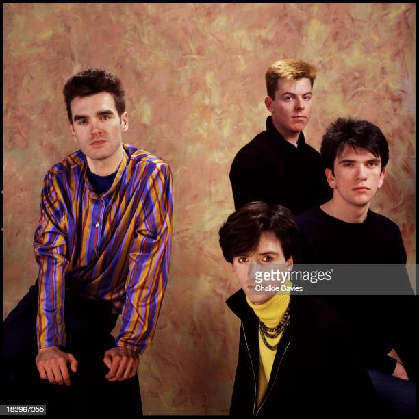 English rock band The Smiths London 1984 Left to right singer Morrissey guitarist Johnny Marr bassist Andy Rourke and drummer Mike Joyce