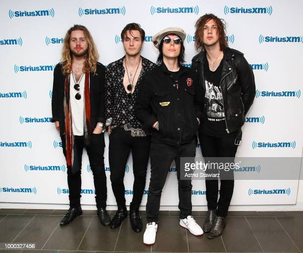 English rock band The Struts visit the SiriusXM studios on July 16 2018 in New York City