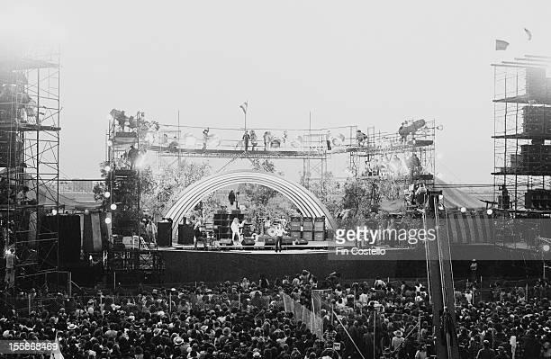 English rock group Deep Purple headlining at the California Jam rock festival, at the Ontario Motor Speedway, Ontario, California, 6th April 1974.