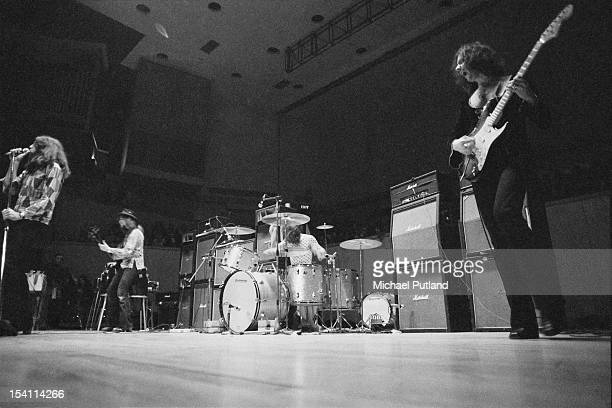 English rock group Deep Purple performing at Fairfield Halls Croydon London March 1972 Left to right Ian Gillan Roger Glover Ian Paice and Ritchie...