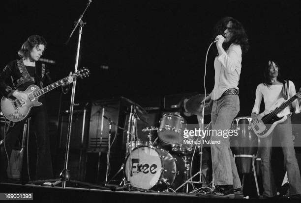 English rock group Free performing at Fairfield Halls Croydon London 12th September 1972 Left to right Paul Kossoff Simon Kirke Paul Rodgers and Andy...