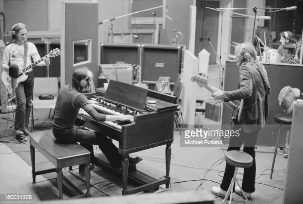 English rock group Humble Pie recording the album 'Smokin'' at Olympic Studios Barnes London 20th January 1972 Left to right Clem Clempson Steve...