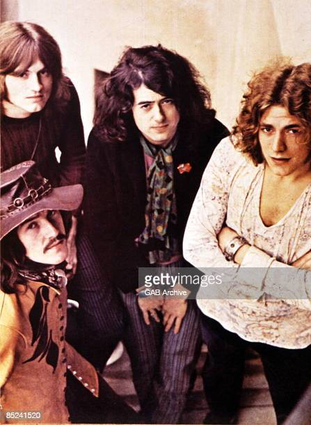 English rock group Led Zeppelin posed circa 1969. Members of the group are, from left, John Paul Jones, John Bonham , Jimmy Page and Robert Plant.