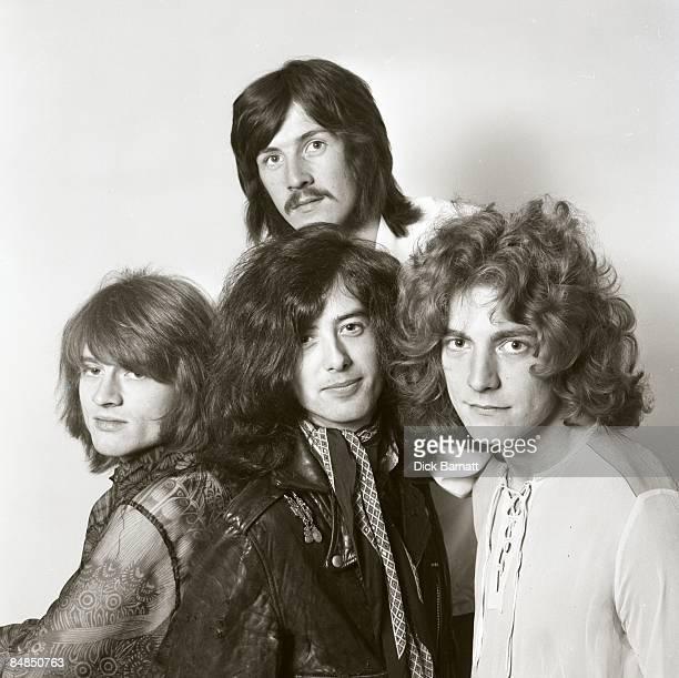 English rock group Led Zeppelin posed in London in December 1968 Clockwise from top John Bonham Robert Plant Jimmy Page and John Paul Jones