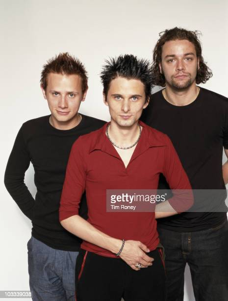 English rock group Muse, circa 1995. From left to right, they are Dominic Howard, Matthew Bellamy, and Christopher Wolstenholme.
