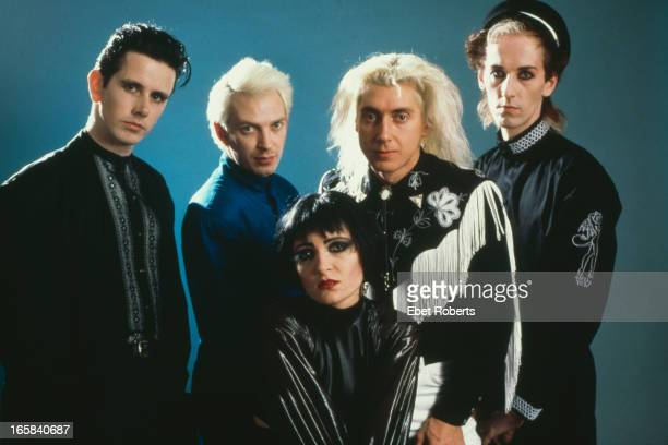 English rock group Siouxsie and the Banshees New York City 28th October 1988 Left to right Keyboard player Martin McCarrick bassist Steven Severin...