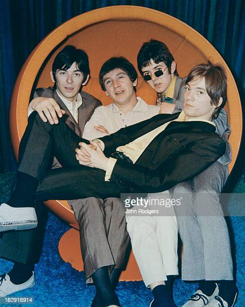 English rock group Small Faces, UK, 1966. Left to right: Ian McLagan, Kenney Jones, Ronnie Lane and Steve Marriott .