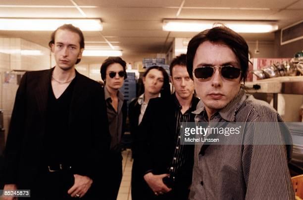 English rock group Suede posed in the Netherlands in 1996 LR Mat Osman Neil Codling Richard Oakes Simon Gilbert Brett Anderson