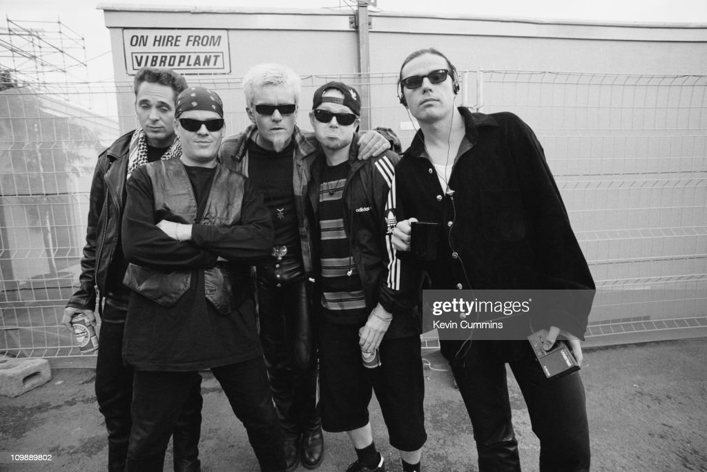 English rock group The Cult at the Milton Keynes Bowl, where they are opening for Guns N' Roses, May 1993.