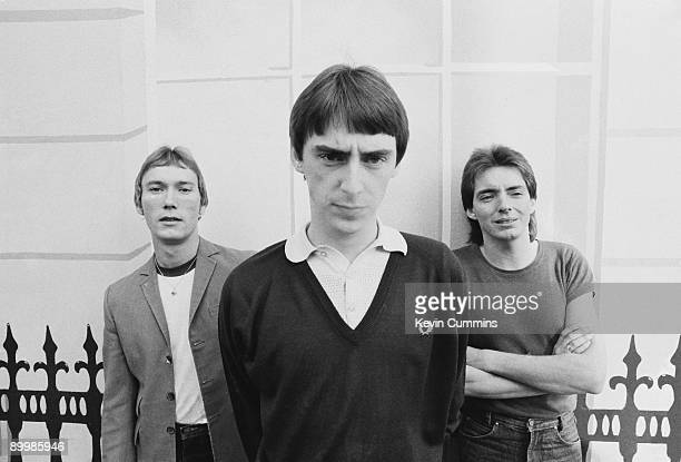 English rock group The Jam London 16th October 1979 Left to right drummer Rick Buckler singer Paul Weller and bassist Bruce Foxton