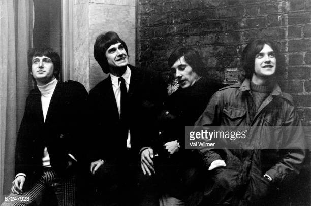 English rock group The Kinks in London 1966 From left to right Pete Quaife Ray Davies Mick Avory and Dave Davies