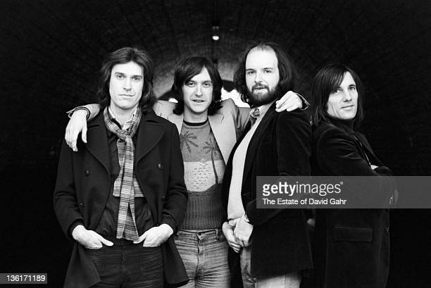 English rock group The Kinks pose for a portrait in February 1977 in New York City New York