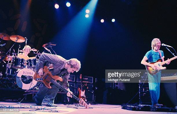 English rock group The Police performing in Philadelphia Pennsylvania during the band's Ghost In The Machine TourUSA 1981 Left to right Stewart...