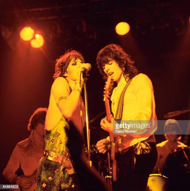 POOL Photo of Mick JAGGER and ROLLING STONES and Keith RICHARDS LR Mick Taylor Mick Jagger Keith Richards Charlie Watts performing live onstage