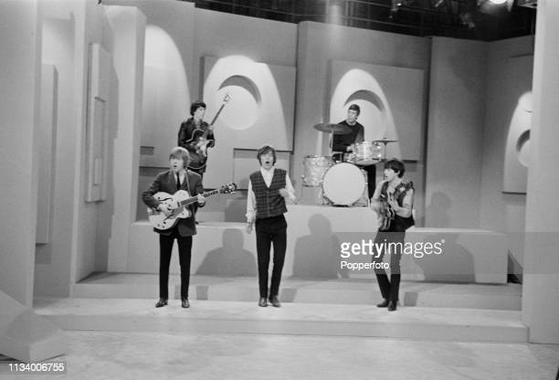 English rock group the Rolling Stones perform live on ABC Television's Thank Your Lucky Stars television show in Birmingham England circa November...