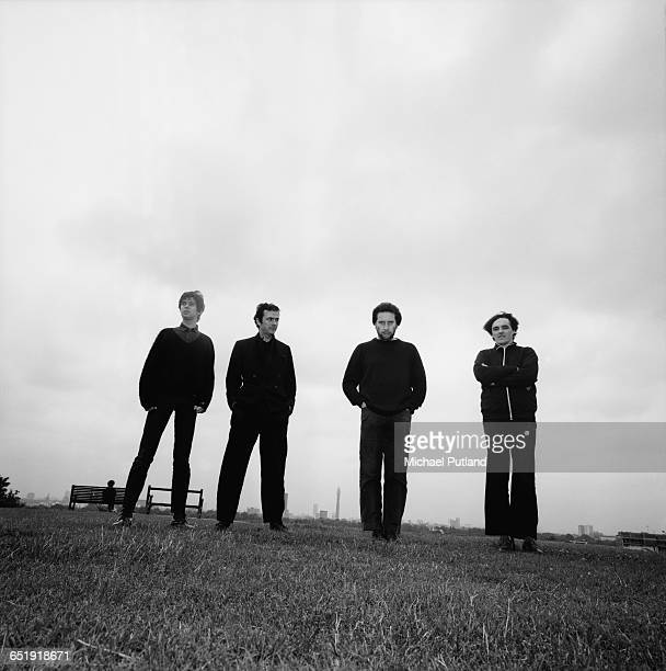 English rock group The Stranglers, Primrose Hill, London, August 1980. Left to right: bassist Jean-Jacques Burnel, singer and guitarist Hugh...