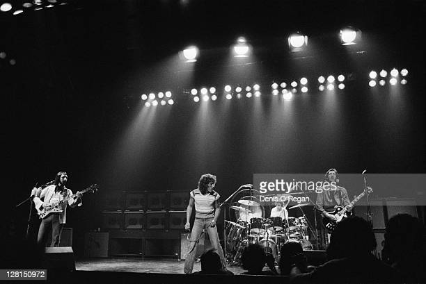 English rock group The Who performing at Shepperton Studios Surrey 25th May 1978 The concert was performed for the group's film 'The Kids Are...