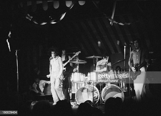 English rock group The Who performing at the Marquee Club for the last time London 17th December 1968 Left to right Roger Daltrey John Entwistle...