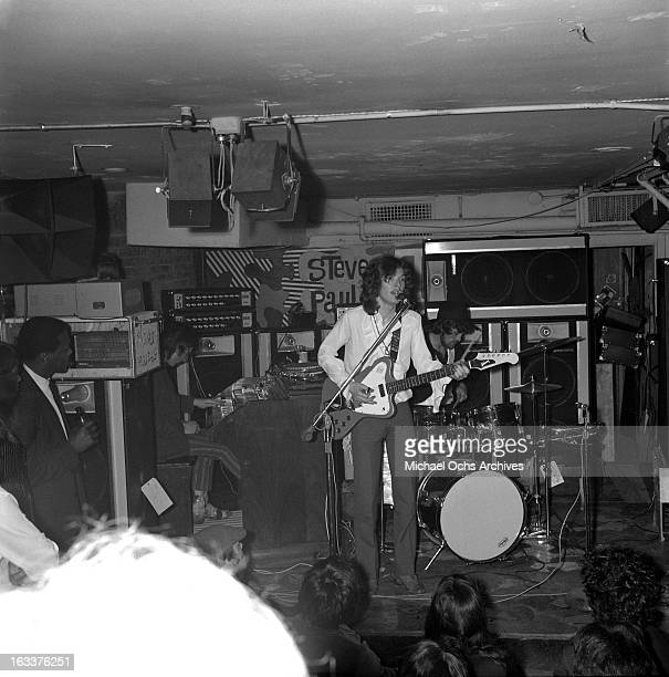 English rock group 'Traffic' perform at Steve Paul's The Scene nightclub on April 24 1968 in New York City New York
