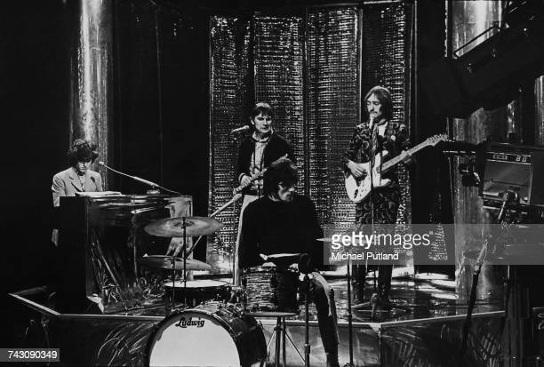 English rock group Traffic perform on the BBC TV music show 'Top of the Pops' in London on 7th December 1967 The band are from left to right Steve...