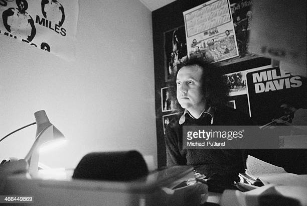 English rock manager and record producer Guy Stevens London March 1974