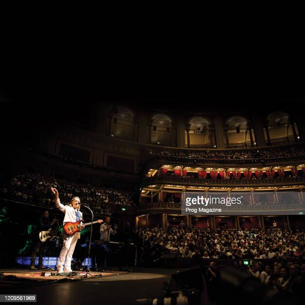 English rock musician Roger Hodgson performing live on stage at the Royal Albert Hall in London, on May 23, 2019.