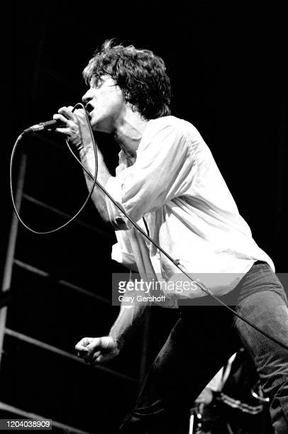 English Rock & Pop musician Ray Davies, of the group the Kinks, performs onstage during the Dr Pepper Central Park Music Festival, New York, New...